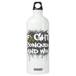 Autism Fight Conquer and Win SIGG Traveler 1.0L Water Bottle