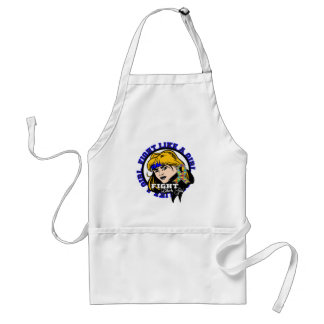 Autism Fight Like A Girl Attitude Adult Apron