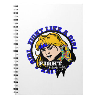 Autism Fight Like A Girl Attitude Note Books