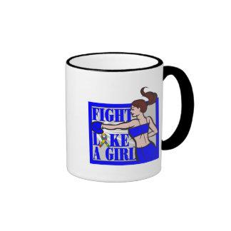 Autism Fight Like A Girl Boxer Mugs