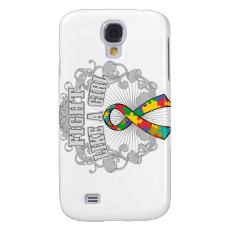 Autism Fight Like A Girl Fleurish Samsung Galaxy S4 Cover