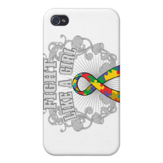 Autism Fight Like A Girl Fleurish iPhone 4/4S Cover
