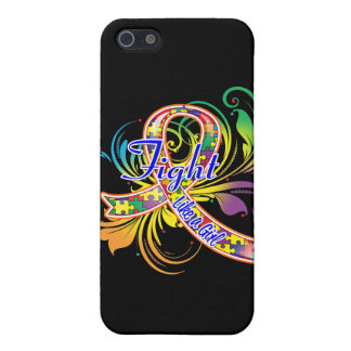 Autism Fight Like a Girl Flourish Covers For iPhone 5