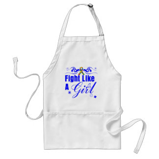Autism Fight Like A Girl Ornate Aprons