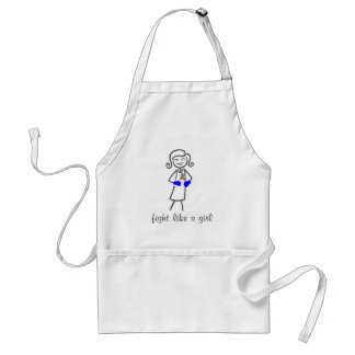 Autism Fight Like A Girl (Retro) Aprons