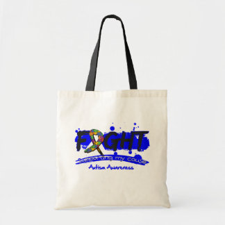 Autism FIGHT Supporting My Cause Tote Bag