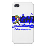 Autism FIGHT Supporting My Cause Covers For iPhone 4
