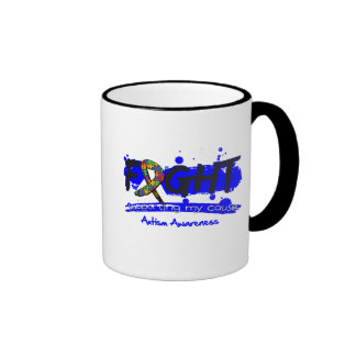 Autism FIGHT Supporting My Cause Coffee Mugs