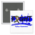 Autism FIGHT Supporting My Cause Pinback Button