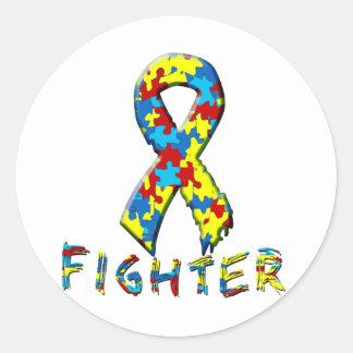 Autism Fighter Classic Round Sticker