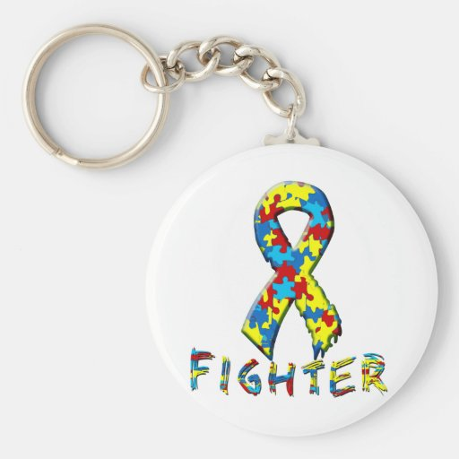 Autism Fighter Keychain