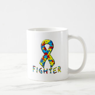Autism Fighter Coffee Mugs
