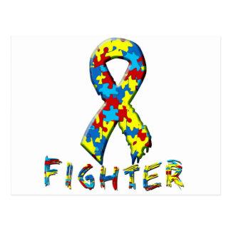 Autism Fighter Postcard