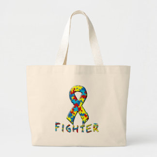 Autism Fighter Tote Bags