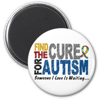 AUTISM Find The Cure 1 2 Inch Round Magnet