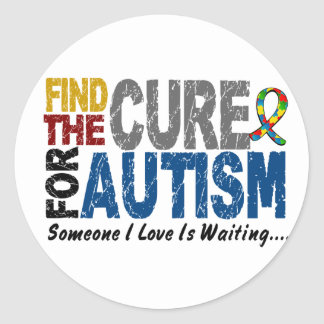AUTISM Find The Cure 1 Classic Round Sticker