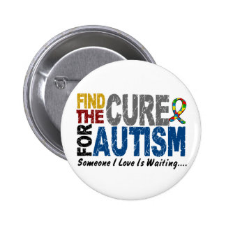 AUTISM Find The Cure 1 Pinback Button