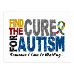 AUTISM Find The Cure 1 Post Card