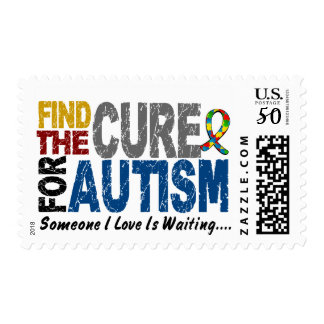 AUTISM Find The Cure 1 Postage