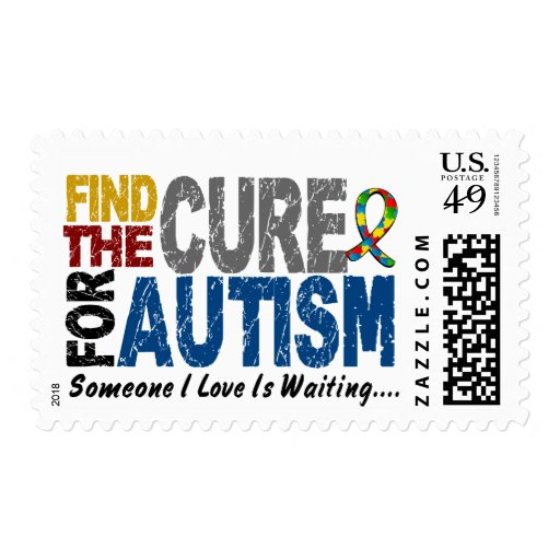 AUTISM Find The Cure 1 Postage Stamp