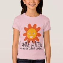 Autism Flower Girl T-Shirt