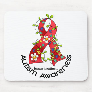 AUTISM Flower Ribbon 1 Mouse Pad