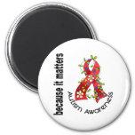Autism Flower Ribbon 3 Fridge Magnet