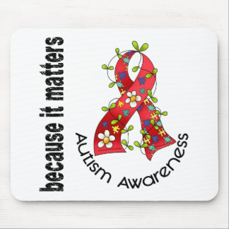 Autism Flower Ribbon 3 Mouse Pad