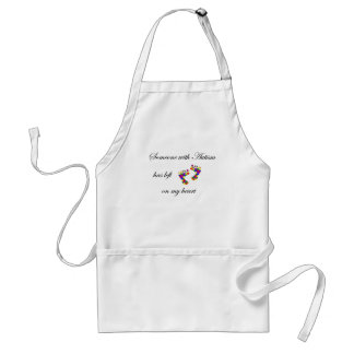 autism footprints adult apron