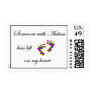 autism footprints postage stamps