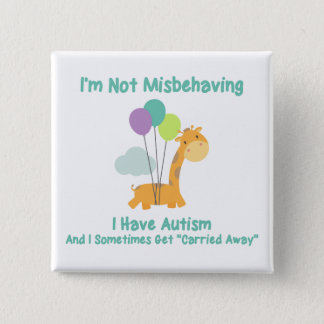 Autism Giraffe Pinback Button