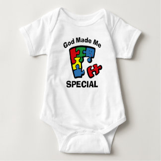 Autism God Made Me Special Baby Bodysuit