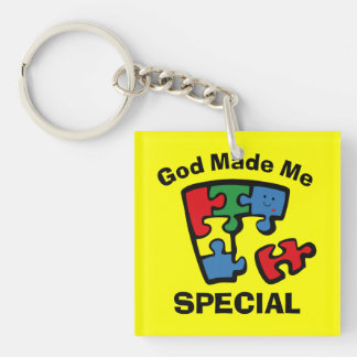 Autism God Made Me Special Keychain