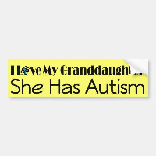 Autism Granddaughter Support Autistic Spectrum Bumper Sticker