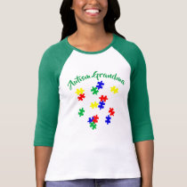 Autism Grandma  Sleeve Raglan (Fitted) T-Shirt