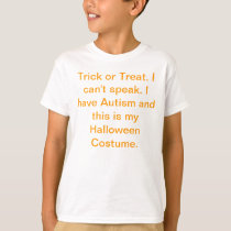Autism Halloween Costume T-shirt