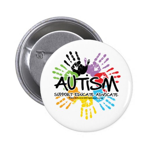 Autism Handprint 2 Inch Round Button