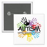 Autism Handprint 2 Inch Square Button