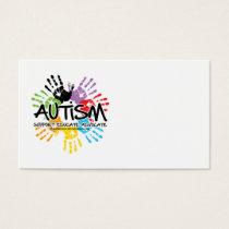 Autism Handprint Business Card