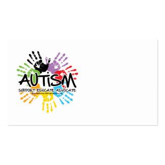Autism Handprint Business Card Template