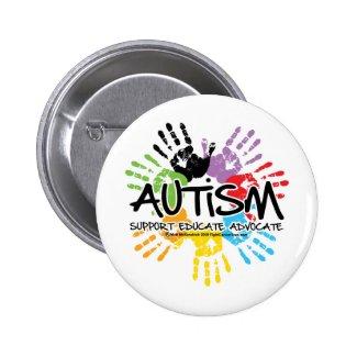 Autism Handprint Pinback Buttons