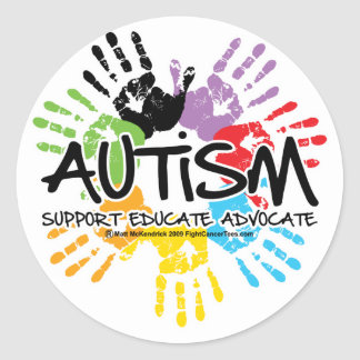 Autism Handprint Classic Round Sticker