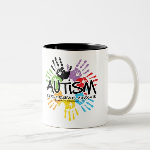 Coffee Maker Handprint : Autism Handprint Two-Tone Mug Zazzle