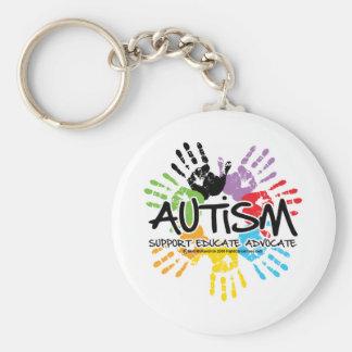 Autism Handprint Basic Round Button Keychain