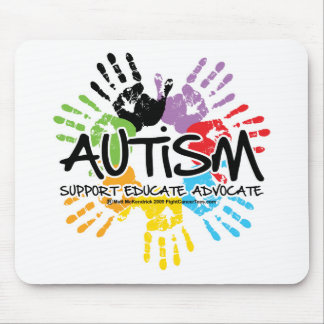 Autism Handprint Mouse Pad
