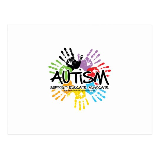 Autism Handprint Postcard