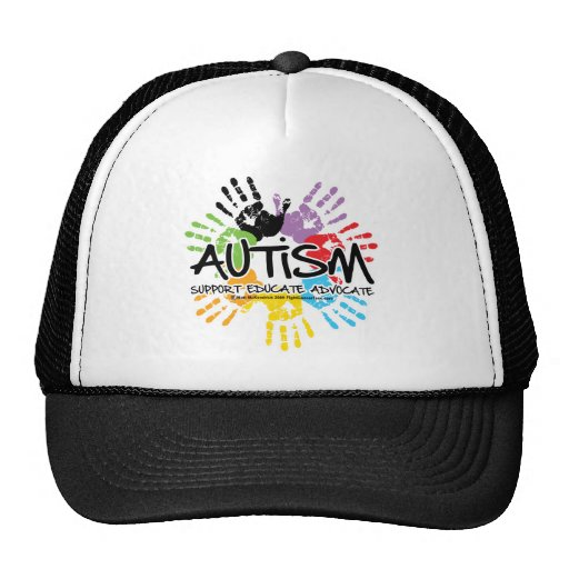 Autism Handprint Trucker Hat
