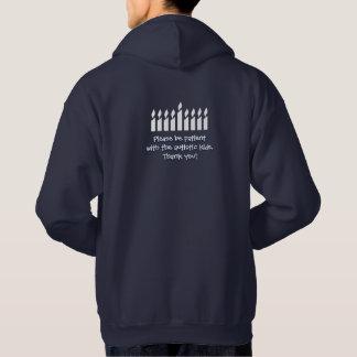Autism Hanukkah hoodie - dark