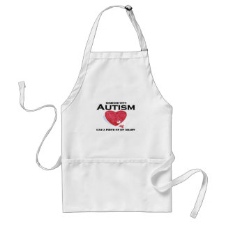 Autism has a piece of my heart adult apron