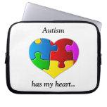 Autism has my heart....case/sleeve laptop computer sleeve
